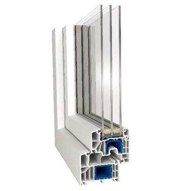 Ferestre si usi PVC termopan Profil Aluplast 85 MD
