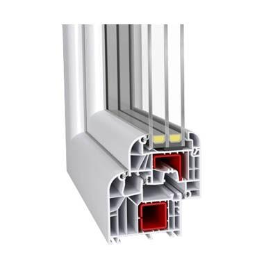 Reprezentare sectiuni Ferestre si usi PVC termopan Profil Aluplast 85 Premium ifenster beclean