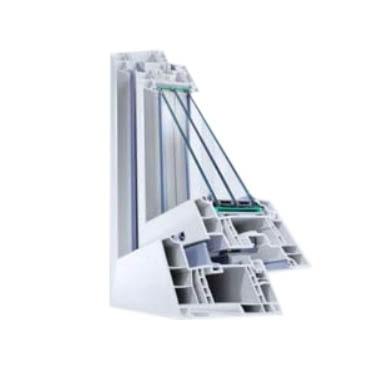 Reprezentare sectiuni Ferestre si usi PVC termopan Profil Rehau Geneo ifenster